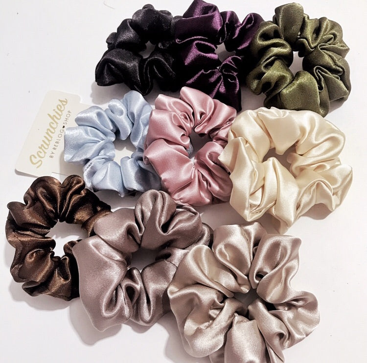 Regular Satin Scrunchies [Wholesale] - 10pcs Assorted