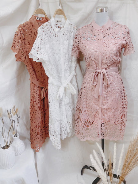FRANCESCA Lace Embroidered Dress