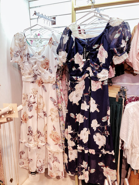 AERIN Chiffon Vintage Maxi Dress