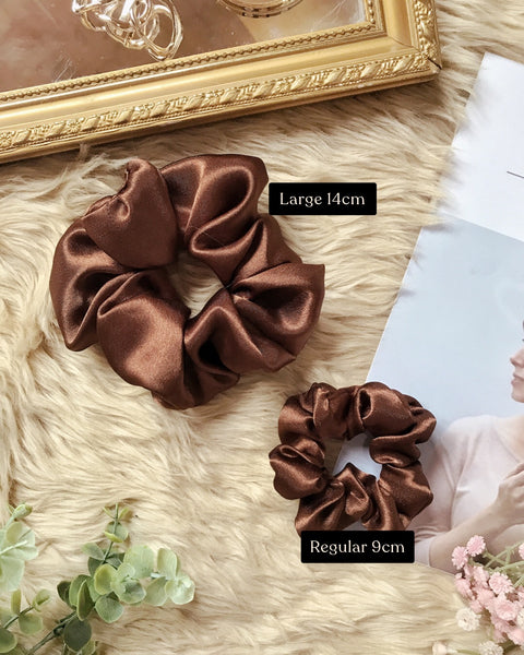 Chunky Satin Scrunchies (Large)