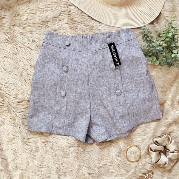 HARPER Button High Waist Shorts