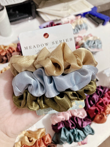 Meadow Series • Limited Edition <br> Satin Scrunchies (Regular Size)