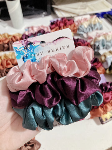 Lavish Series • Limited Edition <br> Satin Scrunchies (Regular Size)