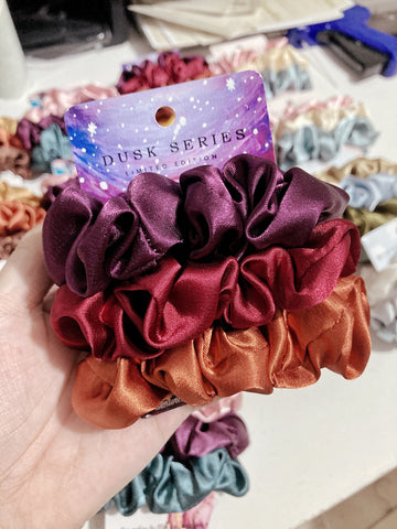 Dusk Series • Limited Edition <br> Satin Scrunchies (Regular Size)