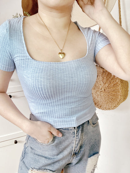 HARRIET Knitted Square Neck Crop Top (XS-S)