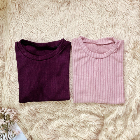 PENNY Knitted Top - BUY 2 FOR 250 (Maroon + Old Rose)