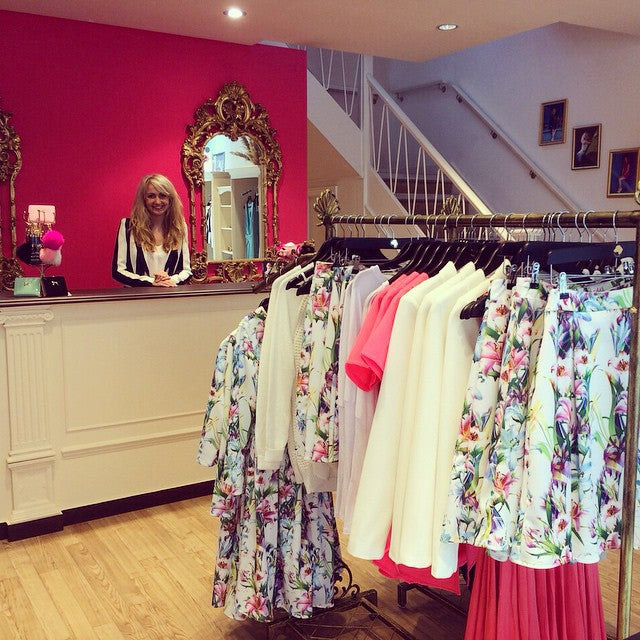 Fantastic-first-day-in-our-new-shop-henryhunt-NewBondStreet-Bath-Shop-pink-gold-floral-clothes-fashi
