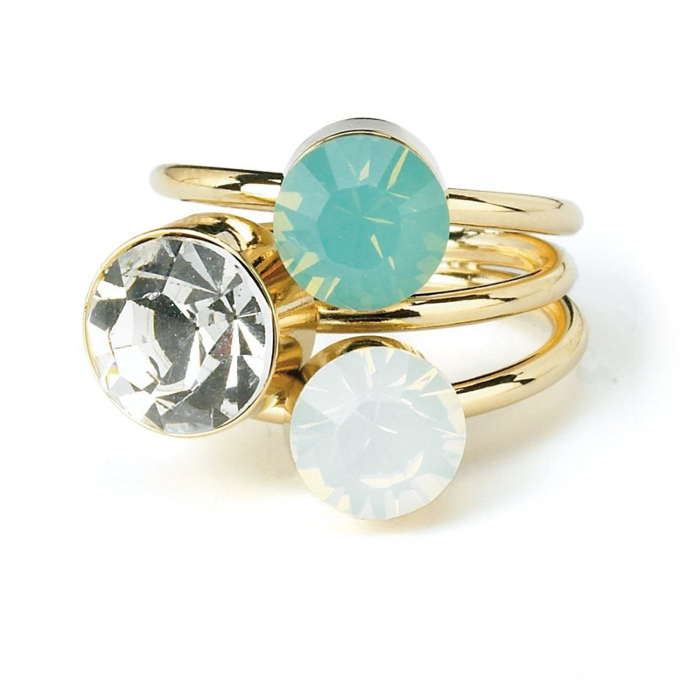 gold-plated-ring-clear-white-and-green-crystals-p635-1244 image