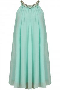 mint trapeze dress