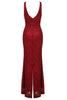 Jenette Red Sparkle Dress