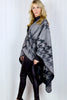 Houndstooth Blanket Cape