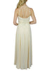cream Lace Panelled Maxi Dress back