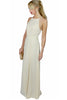 cream Lace Panelled Maxi Dress