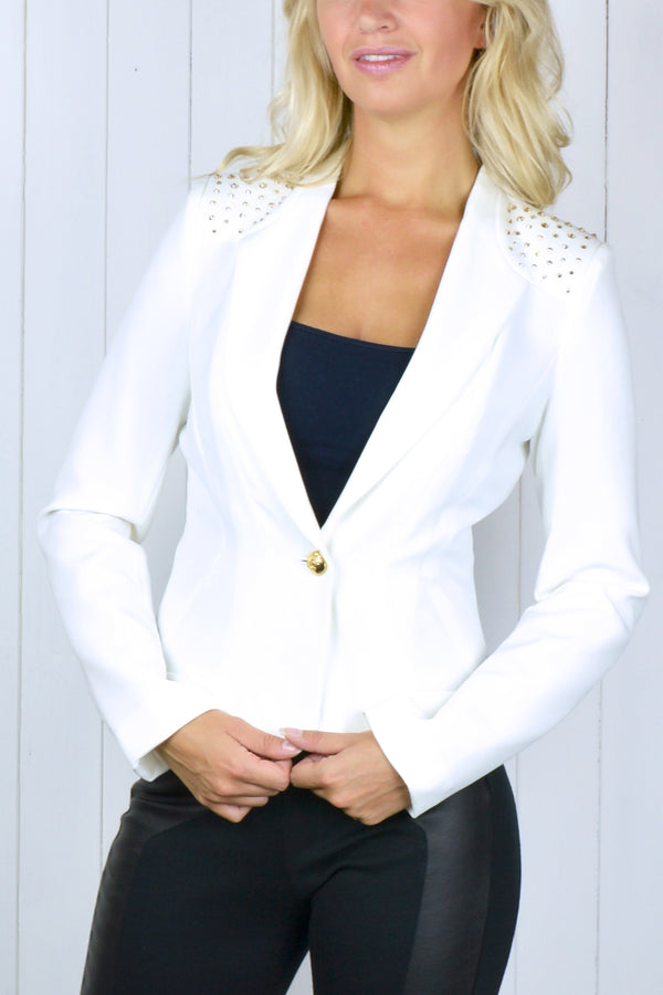 Crystal Shoulder Blazer