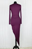 Plum Jersey Asymmetric Plunge Dress - Size 8