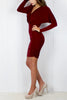 Wine batwing Bodycon Dress