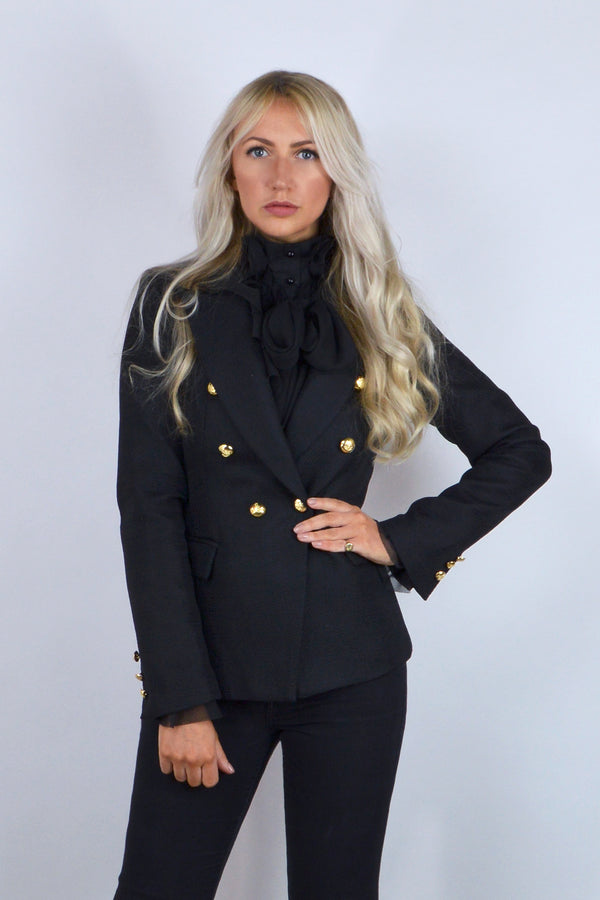 Connie Double Breasted Blazer in Black