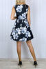 Lily Black Floral Prom Dress
