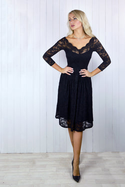 Kayleigh Bardot Lace Dress