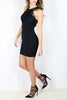 Black Lace High Neck Dress - Size 10