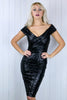 Diana Midi Bardot Sequin Dress