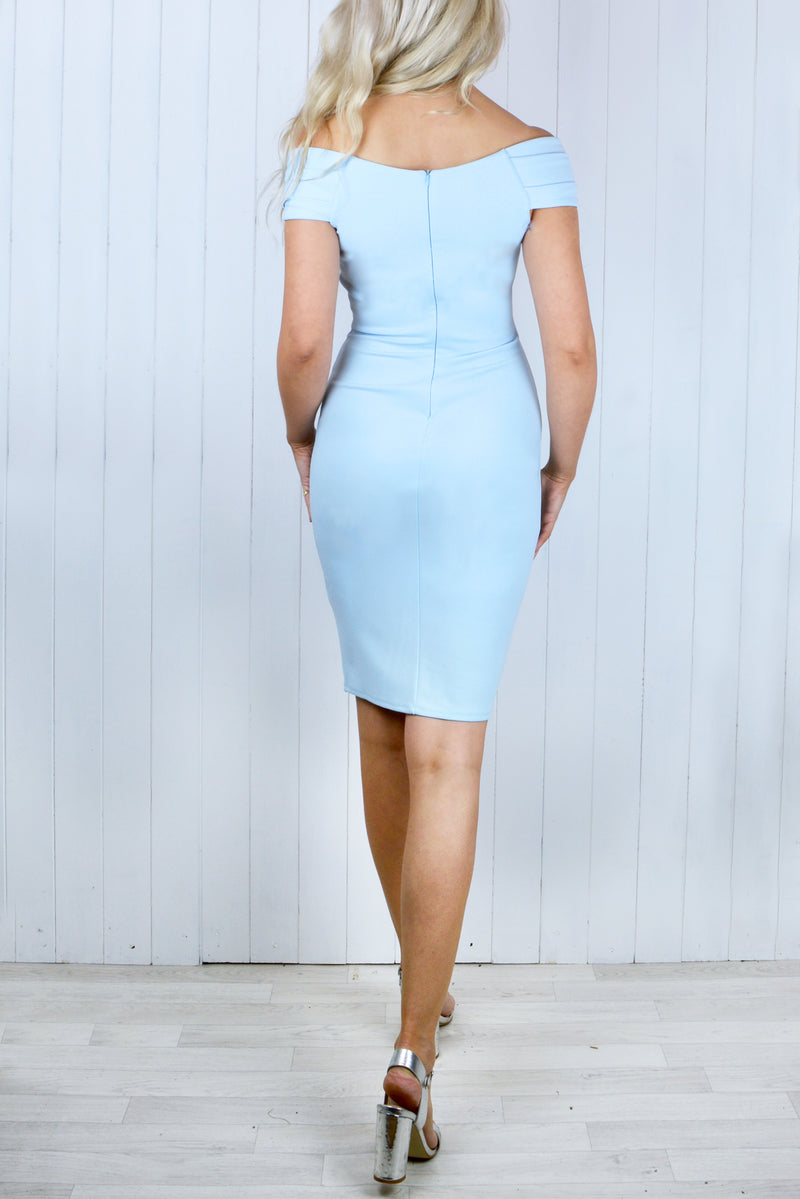 Charlotte Sweetheart Neckline Powder Blue Dress