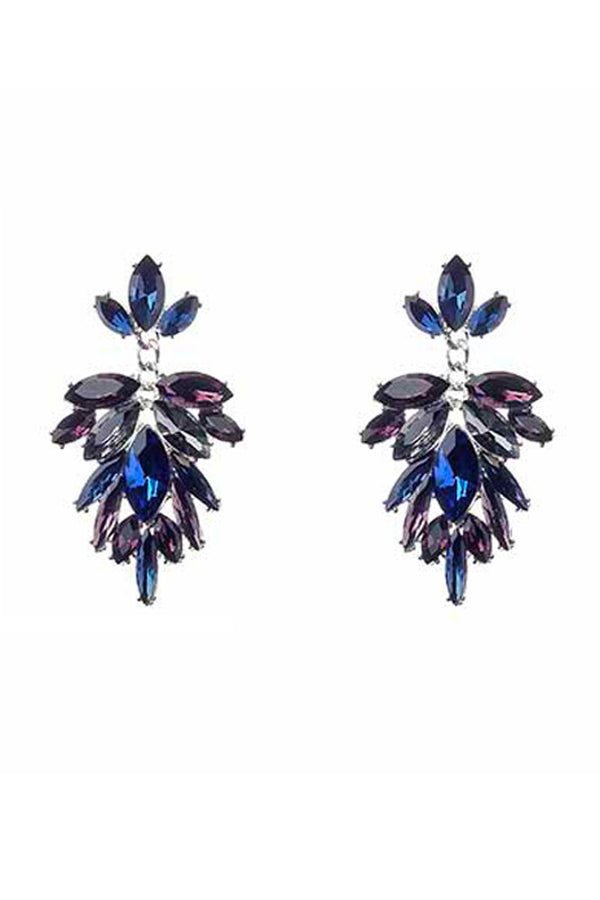 Coloured Crystal Chandelier Earrings