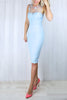 Kayleigh Embellished Powder Blue Dress