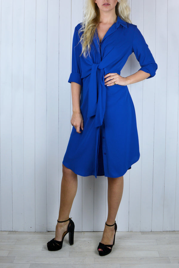 Janet Tie Front Shirt Dress