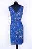 Blue Sparkle Pencil Dress