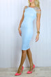 Sara Powder Blue Strappy Bodycon Dress