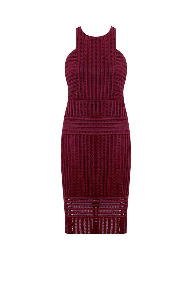 Leona Textured Stripe Pencil Dress