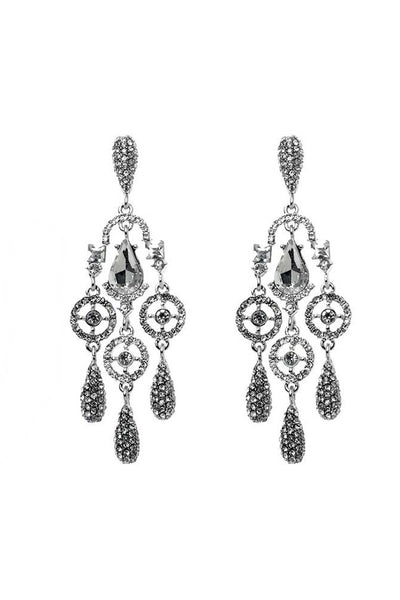 Clear Crystal Chandelier Earrings