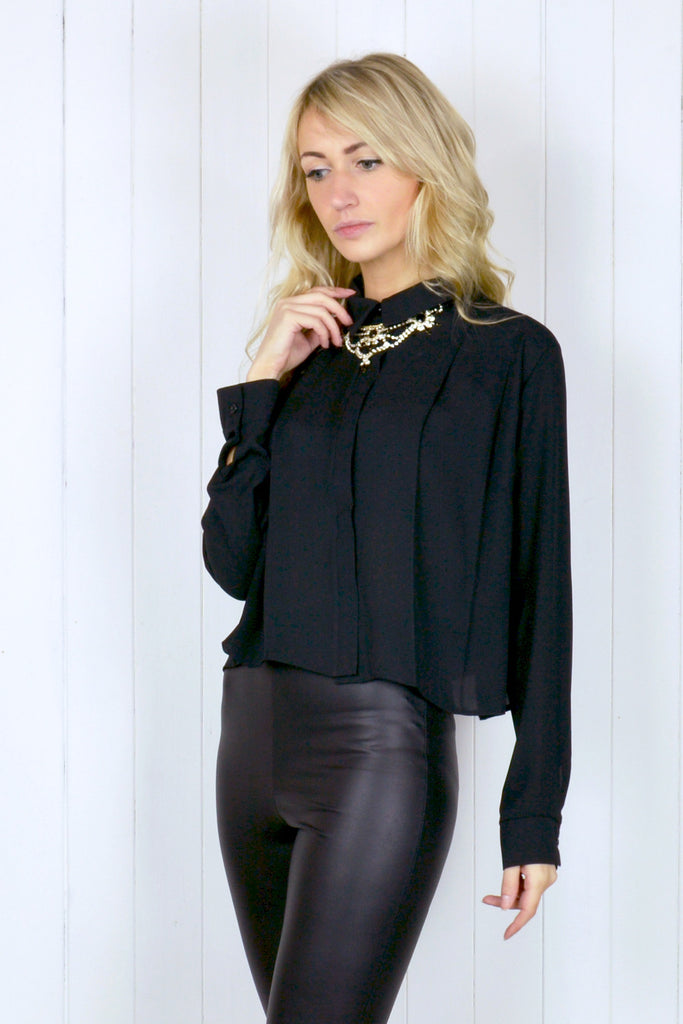 Tilly Pleated Chiffon Blouse