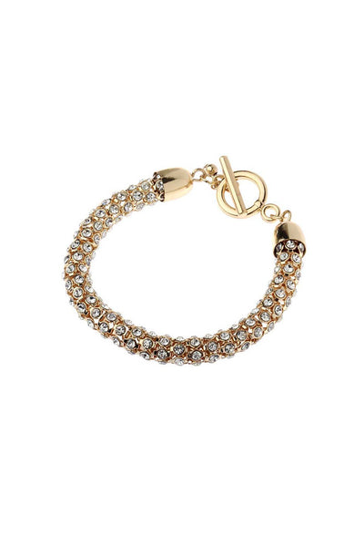 Gold Crystal Bracelet