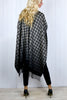 Dogstooth Ombre Blanket Cape