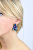 Large Electric Cluster Earrings