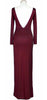 Burgundy Low Back maxi Dress back
