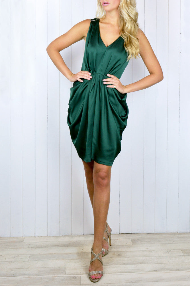 Nadia Pleated Tulip Dress