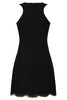 black flapper dress back