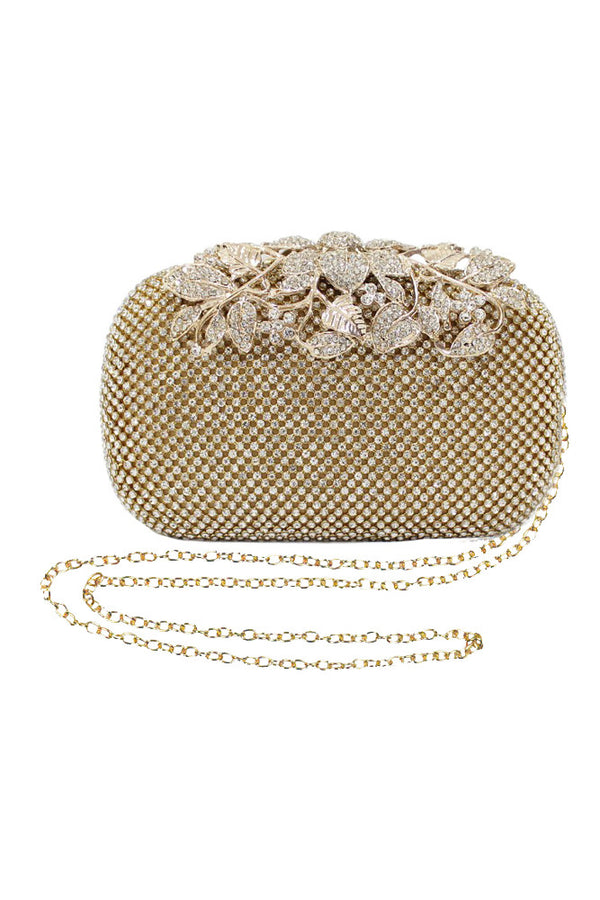 Gold Crystal Clutch Bag