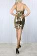 Sophie Gold Sequin Cami Dress
