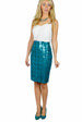 Houndstooth Sequin Pencil Skirt front