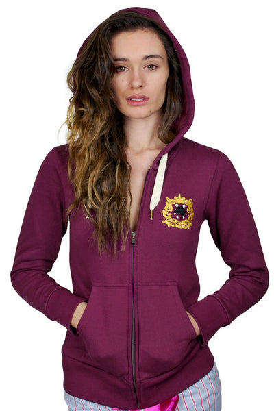 burgundy zip hoody