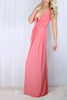 Lara Coral Plunge Neck Maxi Dress
