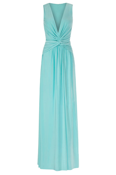 Lara Aqua Maxi Dress - Size 8