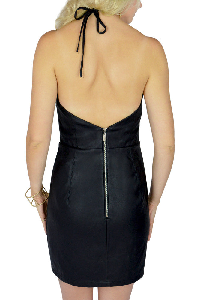 Leather Mini Dress back