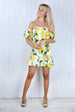 Dulcie Lemon Bardot Ruffle Dress