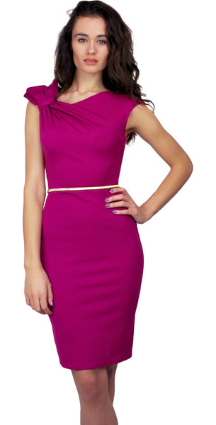 Magenta Bow Dress - Size 10