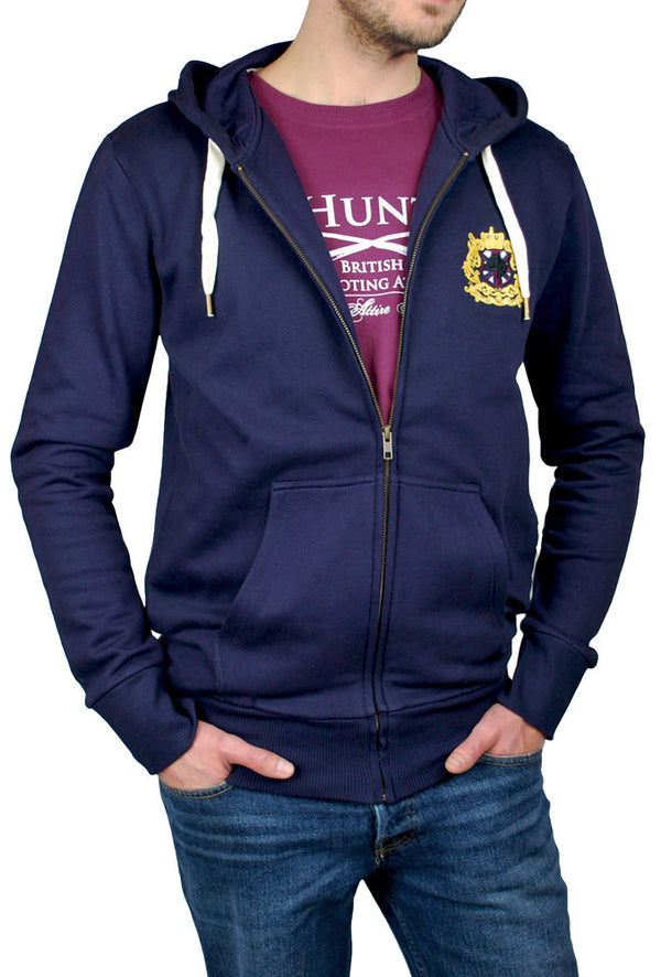 mens navy hoody